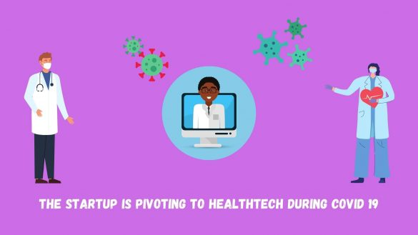 Vector art of Startup Is Pivoting To Healthtech During COVID 19